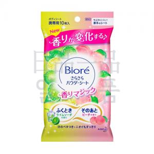 비오레 사라사라 파우더 시트 라임 소다 & 피치 향기 10매입