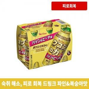 우콘노치카라 파인&복숭아맛 100ml 6병